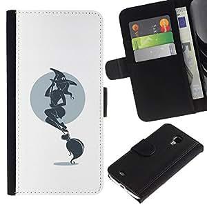All Phone Most Case / Oferta Especial Cáscara Funda de cuero Monedero Cubierta de proteccion Caso / Wallet Case for Samsung Galaxy S4 Mini i9190 // Hot Witch & Broom