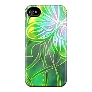 For Iphone 4/4s Tpu Phone Case Cover(tribal Butterfly)