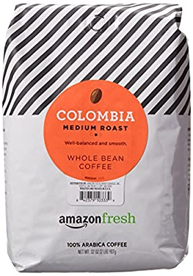 AmazonFresh Colombia Whole Bean Coffee, Medium Roast, 32 Ounce from AFS Brands LLC