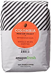 Image of the product AmazonFresh Colombia Whole Bean Coffee, Medium Roa that is listed on the catalogue brand of AmazonFresh.