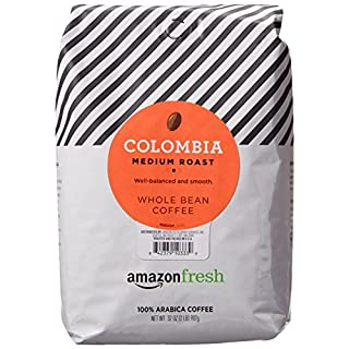 AmazonFresh Colombia Whole Bean Coffee, Medium Roast, 32 Ounce (Pack of 1)