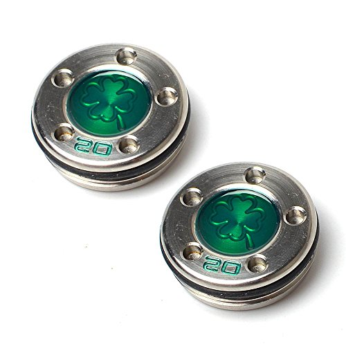 GOOACTION Golf Custom Putter Weights Green Four-Leaf Clover Pattern 2pcs 20g Available for Scotty Cameron Putter Club