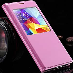 ModernGut New! Wakeup Sleep Function Case For Samsung Galaxy S5 SV I9600 Flip Leather Touch View Cover Window Open 11 Colors RCD03960