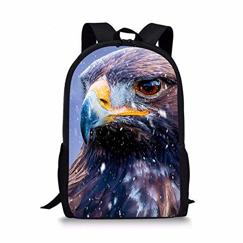 ArtistMixWay Unisex Animal Hawk Printed School Backpack For Elementary Kids Boys - Girls Hawk Backpack For