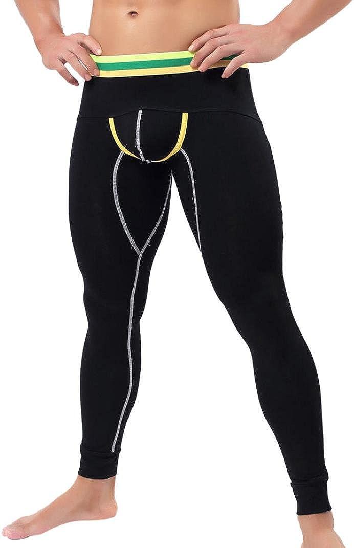 hunpta Mens Baselayer Underwear Warm Cotton Legging Pants Thermal Trousers