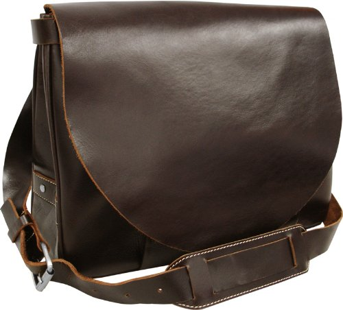 Dark Brown Vintage Leather Flapover Business Brief (#2700-4) - Leather Apc Case