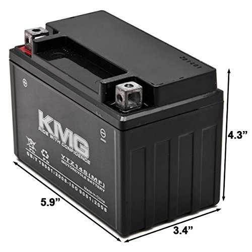 KMG YTZ14S Sealed Maintenace Free Battery High Performance 12V SMF OEM Replacement Maintenance Free Powersport Motorcycle ATV Scooter by KMG (Image #2)