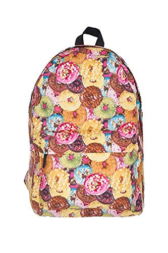 Showroom Novelty Graphics 17-inch School Backpack Including Front Pouch with iPad or Laptop Inner Pocket, Donuts