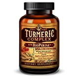 Organic Turmeric Complex with BioPerine® Black Pepper Extract and 95% Curcuminoids – Anti-Inflammatory, Antioxidant, Joint Pain Relief – 180 Vegetarian Capsules For Sale