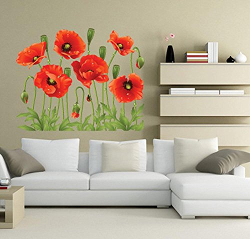 bibitime-wedding-room-red-flower-wall-decal-love-flooring-angular-line-sticker-for-couple-bedroom-li
