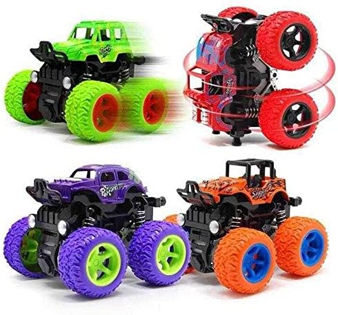 Buy Jvm 4wd Mini Monster Trucks Friction Powered Unbreakable Cars For Kids Big Rubber Tires Baby Boys Super Cars Blaze Truck Children Gift Toys Set Of 4 Online At Low Prices In