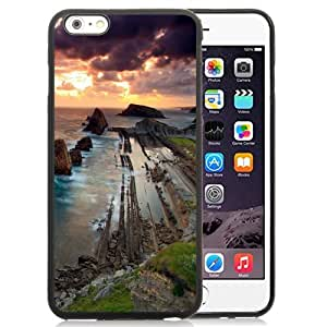 Fashionable Custom Designed iPhone 6 Plus 5.5 Inch Phone Case With Old Stones Waterfront Barrage Sunset_Black Phone Case