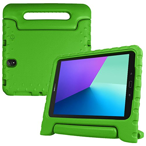 Samsung Galaxy Tab S3 9.7 kids case, COOPER DYNAMO Rugged Heavy Duty Children's Boys Girls Drop Proof Protective Carry Case Cover Handle, Stand, Screen Protector SM-T820 Wi-Fi, SM-T825, 3G/LTE Green