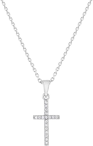 Jewelry Necklaces Necklace with Pendants Sterling Silver Yellow and Clear CZ Necklace