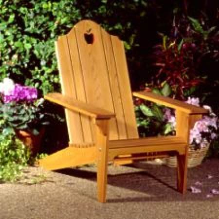 A Woodworking Pattern and Instructions Pkg to Build Your Own Folding Adirondack Lawn Chair
