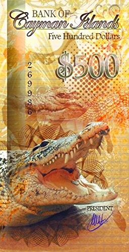 500 Dollars Polymer 2016 Cayman Islands Cayman TANUKI COINS