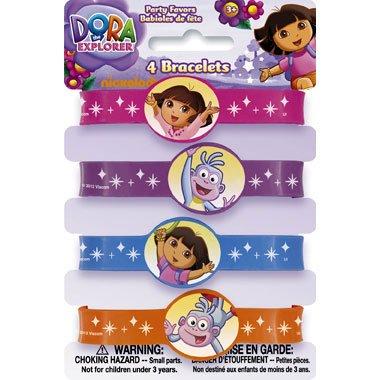 Dora the Explorer Silicone Wristband Party Favors, 4ct