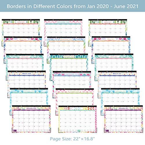 2020-2021 Desk Calendar - Large Desk/Wall Calendar 2020 ...