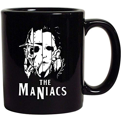 Halloween Maniacs Horror Creepy Villains Nightmare Black Ceramic Coffee Tea Mug Cup 11oz