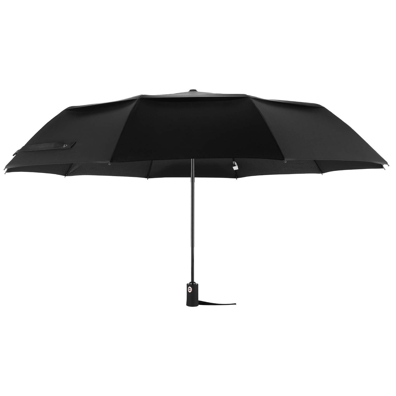 Arebe Extra Larger Travel Umbrella Windproof Auto Open Close Travel Umbrella (Black)