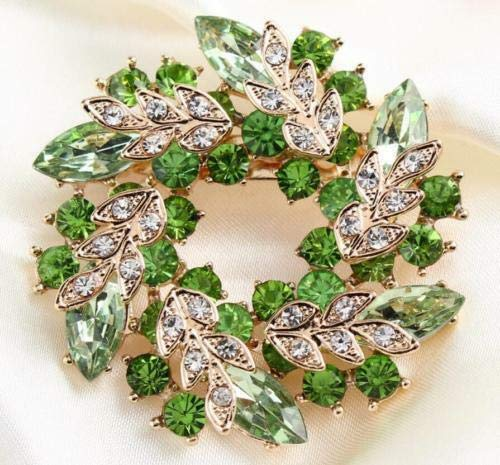 (Vintage Alloy Rhinestone Crystal Flower Wedding Bridal Bouquet Brooch Pin (Color: - #37))