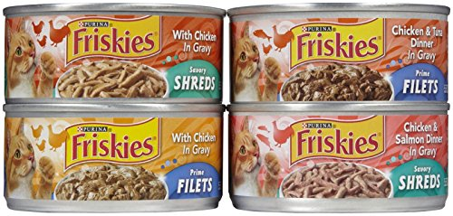 Purina Friskies Chicken Lovers Cat Food Variety Pack - 32 Ct