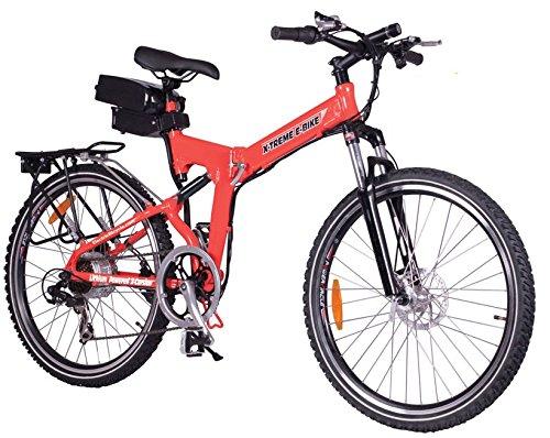 X-Treme Bicycle Electric Folding Mountain Bike 300W – X-Cursion (Red)
