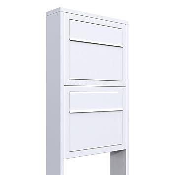 Bravios Briefkasten briefkastenanlage design briefkasten elegance for two weiß