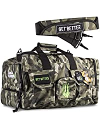 Gym Bag, Tactical Rucksack for Hunting, Fitness, and CrossFit, 1000 Denier Nylon Duffel for Organizing Gear, Great for Travel and Storage for Workout Gear, Multi-use Bag, Men and Women