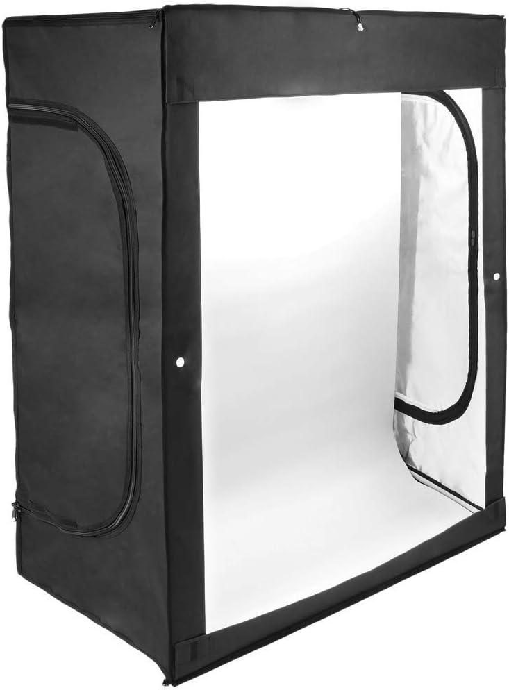 BeMatik - Estudio de fotografía portátil Caja de luz de 120x100x200cm 200W: Amazon.es: Electrónica