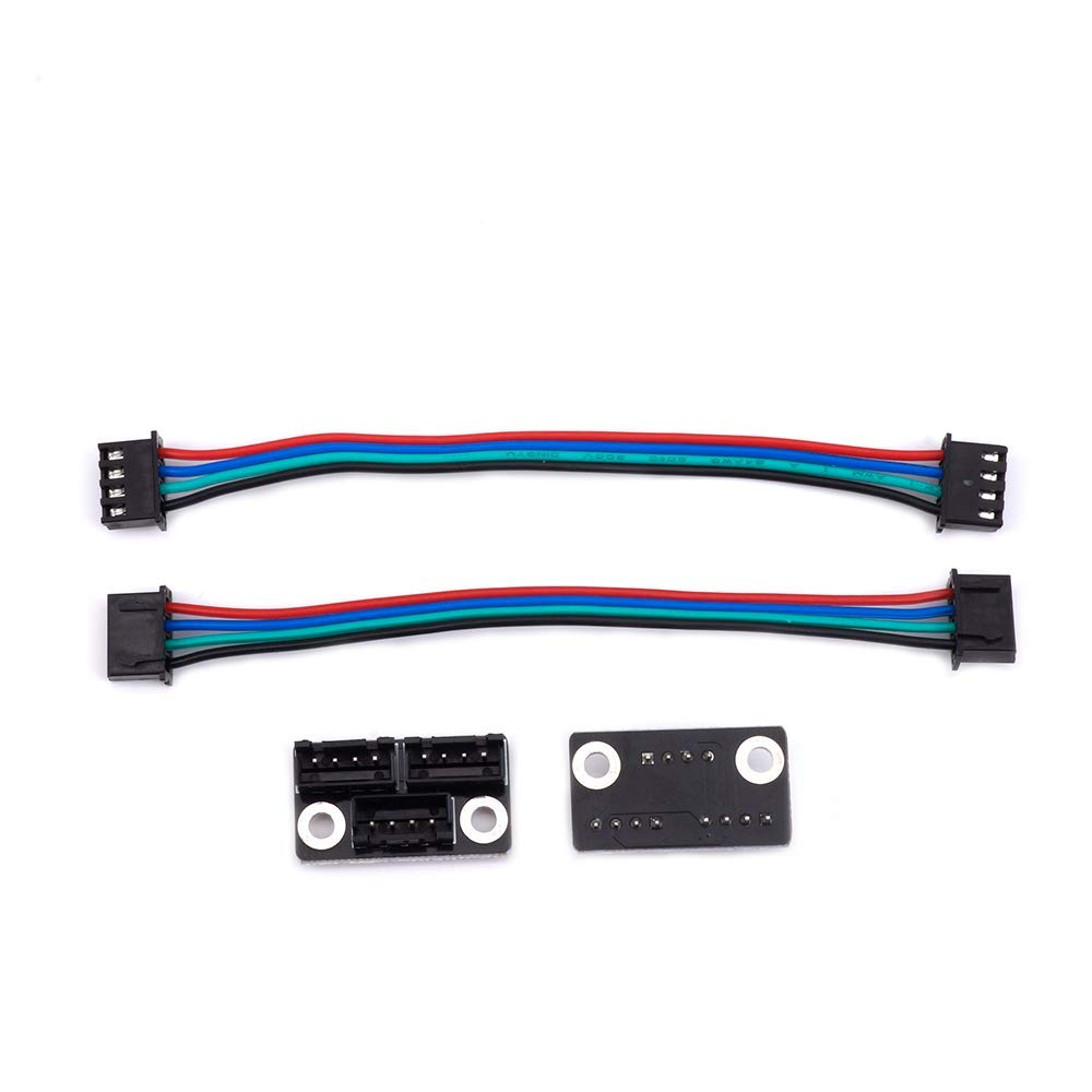 3D Printer Parts and Accessories, FYSETC 3D Printer Stepper Motor Parallel Module with W Cable for Double Z Axis Dual Z Motors Reprap Prusa Lerdge 3D Printer Board - Pack of 2 Fuyuansheng