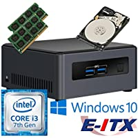 Intel NUC7I3DNHE 7th Gen Core i3 System (BOXNUC7I3DNHE), 8GB Dual Channel DDR4 , 1TB HDD, WiFi, Bluetooth, Window 10 Pro Installed & Configured by E-ITX