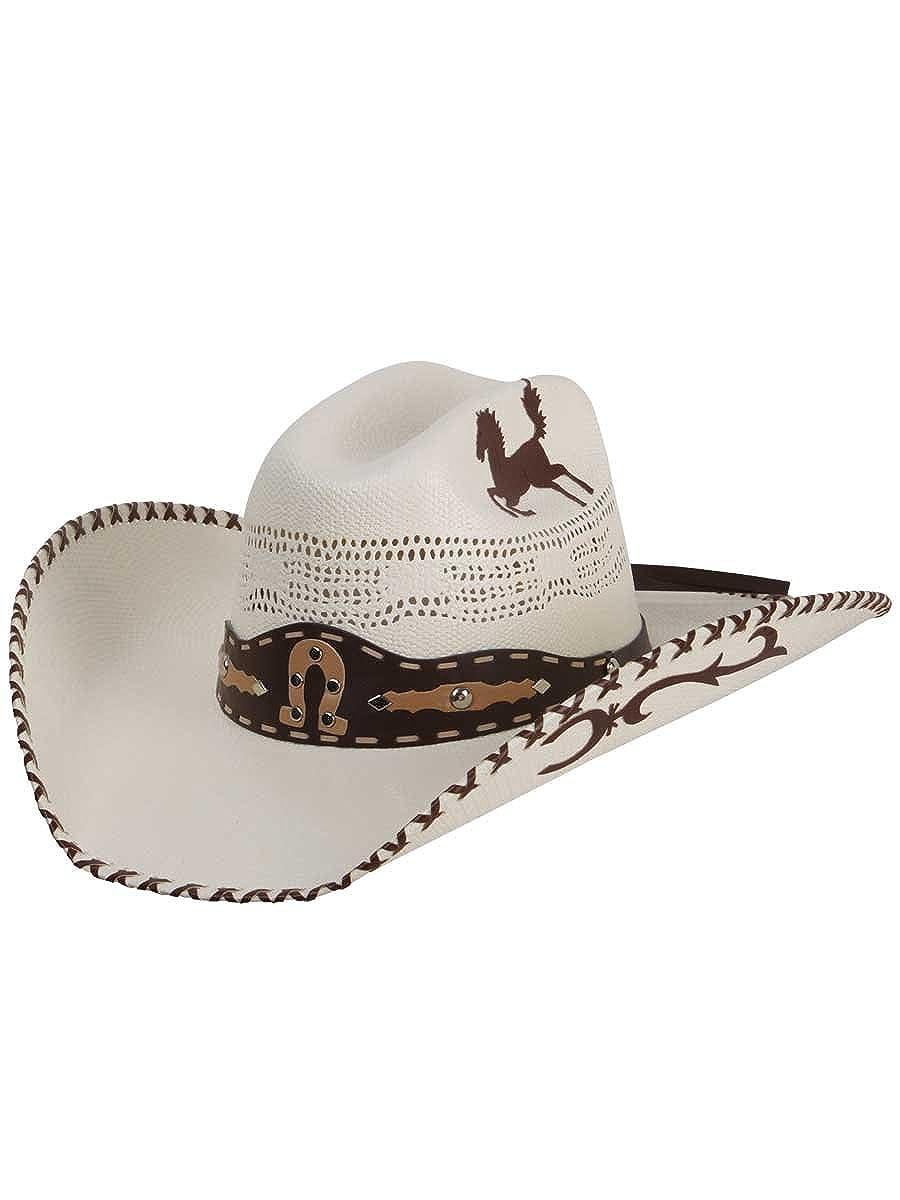 El General Mens /& Womens Western Style Cowboy//Cowgirl Vented Bangora 20X Straw Hat