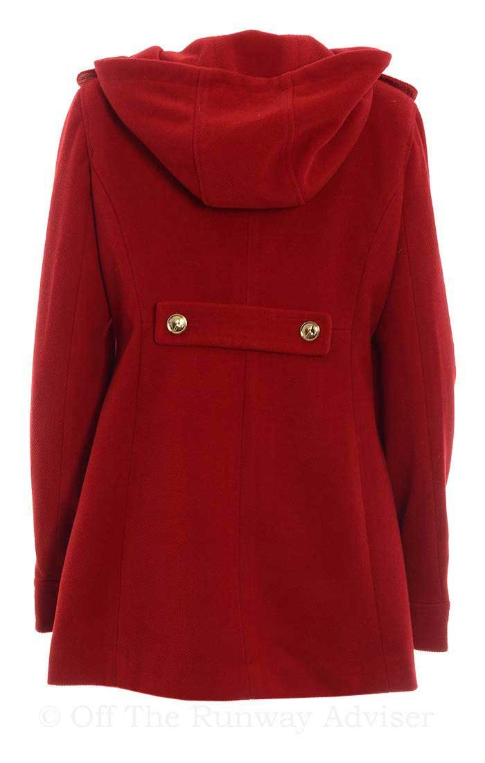 Tommy Girl Juniors Double-Breasted Hooded Trench Coat, Cardinal Red, Juniors Large by Tommy Hilfiger (Image #3)