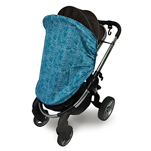 Outlook Universal Cotton Sleep Eazy Stroller Cover (Teal Fern Leaf) by Outlook 2010