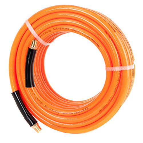 Maxaline Air Hose,Non-Kinking, 3/8in. x 50ft, 300 PSI, 1/4Inch MNPT Brass Ends, Lightweight Compressor Hose, Extreme All-Weather Flexibility from Maxaline