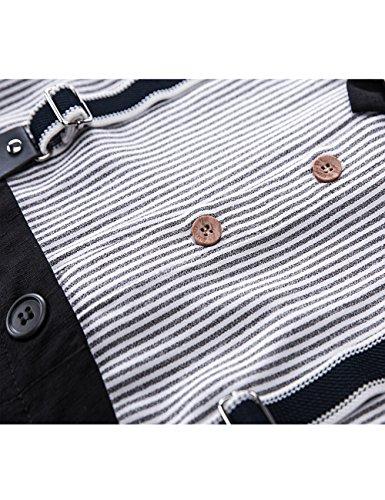4686960e0 HeMa Island Baby Boy Gentleman Black Stripe Shirt Bowtie Tuxedo Onesie  Jumpsuit Overall Romper