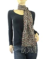 Animal Print Pashmina Silk Blend Scarf in a Variety of Designs