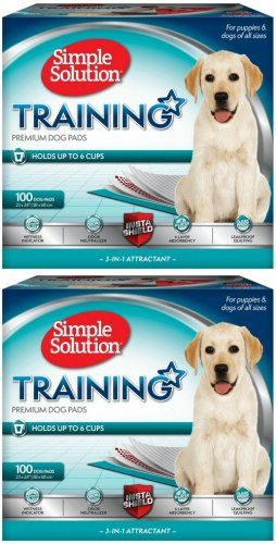 Simple Solution Original Training Pads 23x24 inch 200pk (2x100pk) (Simple Solution Economy Puppy Training Pads)