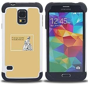 For Samsung Galaxy S5 I9600 G9009 G9008V - Funny Quote Work Sexual Coworker Women Men /[Hybrid 3 en 1 Impacto resistente a prueba de golpes de protecci????n] de silicona y pl????stico Def/ - Super Marley