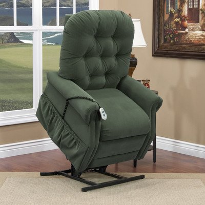 - 25 Series Tall Three-Way Reclining Lift Chair Moveable Infrared Heat: No, Vibration and Heat: None, Upholstery: Aaron Hunter Green