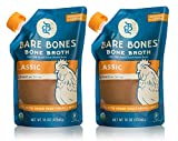 Bare Bones Chicken Bone Broth – 100% Organic Bone Broth with Protein and Collagen, Ancient Natural Source of Nutrition, Ketogenic Diet Friendly, Whole30 Approved, Certified Paleo, 16 oz (2-Pack)