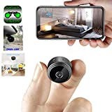 Mini Spy Camera WiFi Hidden Camera ClickCam Wireless HD 1080P Indoor Home Small Spy Cam Security Camera/Nanny Cam Built-in Battery with Motion Detection/Night Vision for iPhone/Android/Tablet