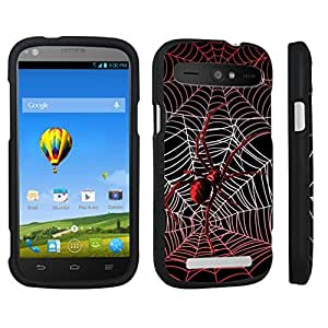 DuroCase ? ZTE Warp Sync N9515 Hard Case Black - (Red Spider)
