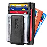 Slim & Minimalist Bifold Front Pocket Wallet with Strong Magnet  Money Clip