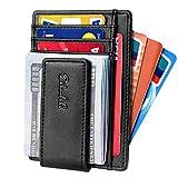 Slim & Minimalist Bifold Front Pocket Wallet with Strong Magnet Money Clip for men,Effective RFID...