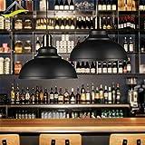 Vintage Ceiling Light Pendant Lamp Industrial Retro Loft Iron Lighting Home Bar Loft Decor (Black)