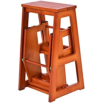 Amazon Com Colibrox Wood Step Stool Folding 3 Tier