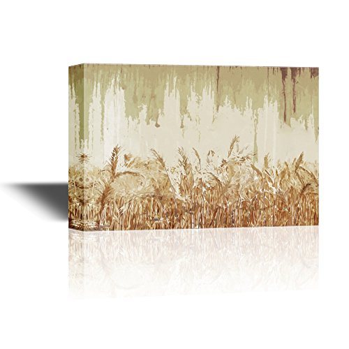 Abstract Landscape with Wheat Field on Vintage Background Gallery