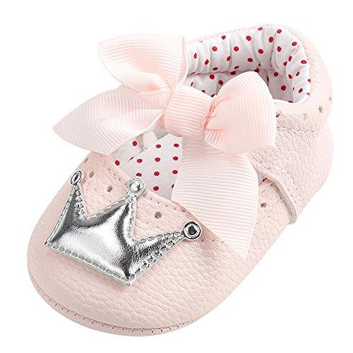 Crown Slide Charm - Baby Boys Girls Shoes Miuye Newborn Infant Baby Girl Crown Princess Shoes Soft Sole Anti-Slip Sneakers Silver